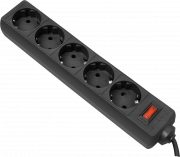 Сетевой фильтр Defender ES 1,8 черный