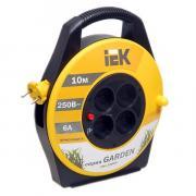 """Удлинитель на барабане IEK """"Garden"""" 10m 2x0,75mm 6A 4 розетки с..."""