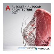 Autodesk AutoCAD Architecture 2017 Commercial New Single-user ELD...
