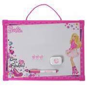 """Доска магнитно-маркерная """"Barbie"""", цвет: ярко-розовый, белый, с..."""