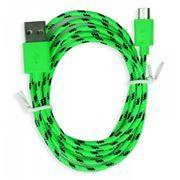 Кабель USB 2.0 Am=>micro B - 1.2 м, нейлон, зеленый, Smartbuy (iK-12n...