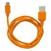 Кабель USB 2.0 Am=>micro B - 1.0 м, оранжевый, CBR Human Friends...