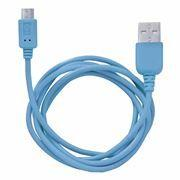Кабель USB 2.0 Am=>micro B - 1.0 м, синий, CBR Human Friends Rainbow