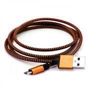Кабель USB 2.0 Am=>micro B - 1.2 м, хлопок/металл, золотой, Smartbuy...