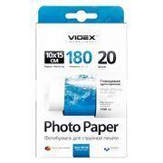 Бумага A6 VIDEX глянцевая 180 г/м, 10x15 см, 20 листов (HGA6-180/20)