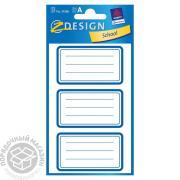 Перманентные наклейки с синей рамкой (Avery Zweckform)