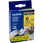 Расходный материал Brother Ламинированная лента шириной 6 мм (Чёрный...