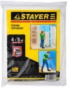 """Пленка STAYER """"PROFI"""" защитная укрывочная, LDPE, 30 мкм, 4 х 5 м"""