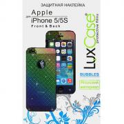 Защитная плёнка для iPhone 5/Phone 5c/iPhone 5s (Front&Back), Luxcase...