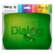 Коврик для мыши Dialog PM-H20 Green с рисунком, синий