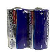 Батарейка C DAEWOO Heavy Duty R14 солевая, 2шт, термопленка
