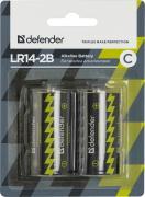Батарейка C - Defender Alkaline LR14-2B (2 штуки) 56032