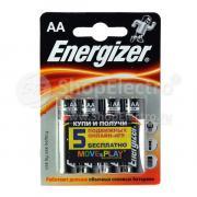 Батарейка Energizer Alkaline, 1.5 В, LR6 BL4
