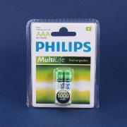Аккумулятор PHILIPS AAA, 1.2 В, 1000 мАч, NiMH BL2