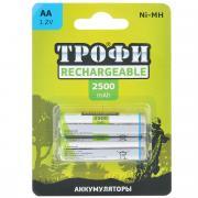 """Аккумулятор """"Трофи"""", тип AA (HR6-2BL), 2500 мАч, 2 шт"""