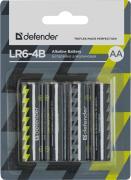 Батарейка AA - Defender Alkaline LR6-4B (4 штуки) 56012