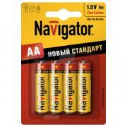 Батарейка AA - Navigator Heavy Duty 94 758 R06-4BL (4 штуки)
