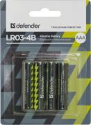 Батарейка AAA - Defender Alkaline LR03-4B (4 штуки) 56002