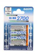 Аккумулятор SANYO АА, 1.2 В, 2700 мАч, NiMH BL4 [HR- 3U- 2700- 4BP]