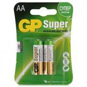 Батарейки GP АА LR06 алкалиновые в блистере, в упаковке 2 штуки