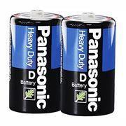 Батарейка D Panasonic Heavy Duty R20, солевая, 2 шт, термопленка