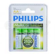 Аккумулятор PHILIPS AA, 1.2 В, 2100 мАч, NiMH BL4