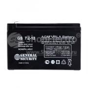 Свинцово-кислотный аккумулятор General Security GS 12-7.2 (12 В, 7.2...