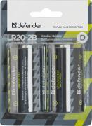 Батарейка D - Defender Alkaline LR20-2B (2 штуки) 56022