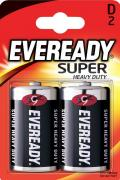 Батарейка солевая Eveready Super R20 D (2 штуки) Eveready