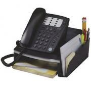 ProfiOffice Black&Silver Подставка-органайзер настольная для телефона