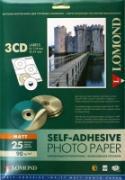 Lomond 2211023 Самоклеящаяся матовая- Наклейки на CD 3-дел.(...