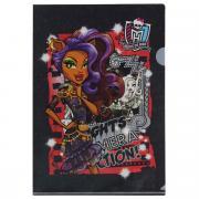"""Папка-уголок Hatber """"Monster High: Клодин Вульф"""", цвет: черный,..."""