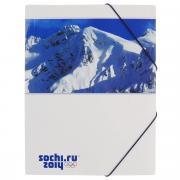 """Папка на резинке Hatber """"Сочи-2014: Горы"""", цвет: белый. Формат A4"""