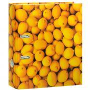 "Папка-регистратор Index ""Лимон"", ширина корешка 80 мм, цвет: желтый"