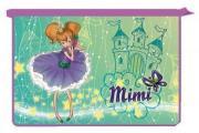 Папка для тетрадей Принцесса Мими, 2-отд., на молнии, пластик,ф. A4