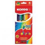 """Карандаши """"Kores"""" цветные 12 цветов с точилкой"""