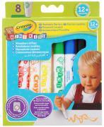Crayola Набор цветных смываемых фломастеров 8 шт