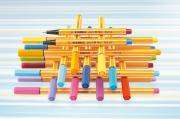 Ручка линер Stabilo Point 88 (Yellow 44)