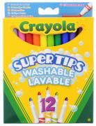 Crayola Набор цветных смываемых фломастеров 12 шт