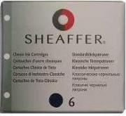 Sheaffer SH 96213 Картриджи картриджи с черно-синими чернилами 6 штук...