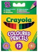 Crayola Набор коротких цветных карандашей 12 шт