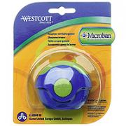 """Точилка """"Westcott"""" с антибактериальным покрытием, цвет: синий, зеленый"""