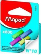 MAPED 324706 Скобки цветные из высококачественной стали №10, 800шт, в...