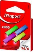 MAPED 324806 Скобки цветные из высококачественной стали 26/6, 800шт, в...