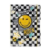 блокнот Herlitz smiley rock, a4, 2 блока:кл+лин по 40л., 80g/m