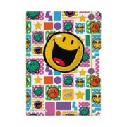 блокнот Herlitz smiley happy, a4, 2 блока: кл+лин по 40л., 80g/m