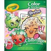 Раскраска Crayola с наклейками Shopkins