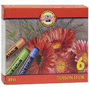 """Мелки сухие """"Toison D'or"""", 6 цветов"""