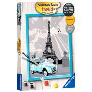 "Раскраска по номерам ""Париж"", 24 см х 30 см"