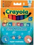 Рисование Crayola 8 цветных смывающихся фломастеров для малышей [8324]